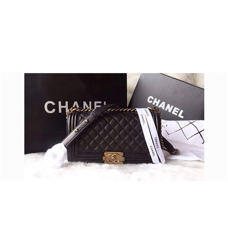 c10b7a97db7d44 Chanel Leboy black sheepskin gold chain bag | Shopee Malaysia