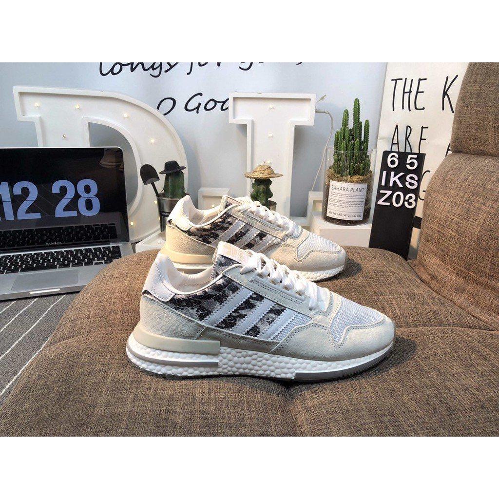 2colour Adidas Originals Classic Running Shoes Zx500 Suede Retro Running Shoes Style Shopee Malaysia