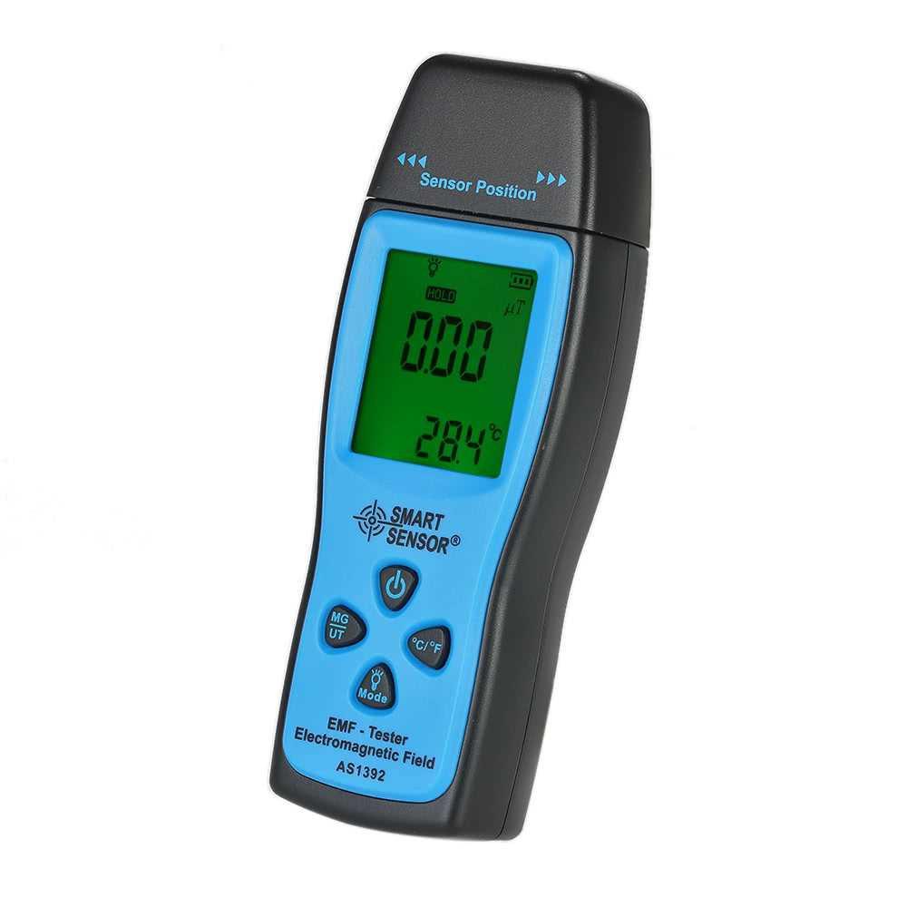 SMART SENSOR Handheld Mini Digital LCD EMF Tester Electromagnetic Field Radiation Detector Meter Dosimeter Tester Count