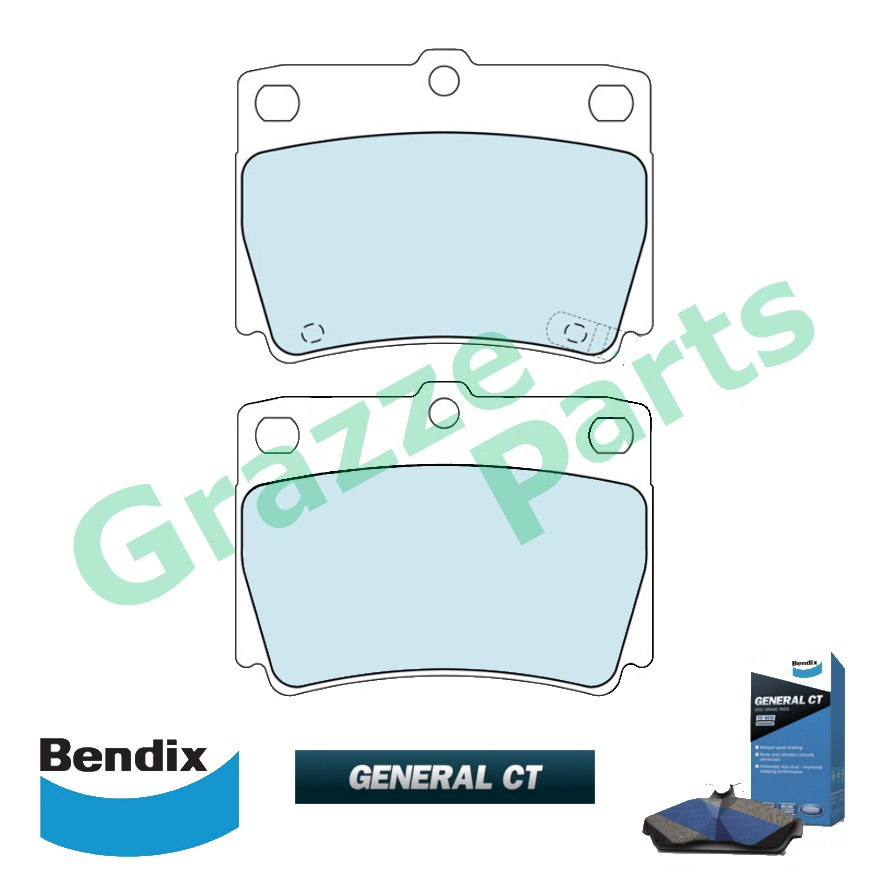 Bendix General CT Disc Brake Pad Rear for DB1390 Mitsubishi Challenger K97W K96W K99W Pajero V23 V64 V74 Pajero Sport KH
