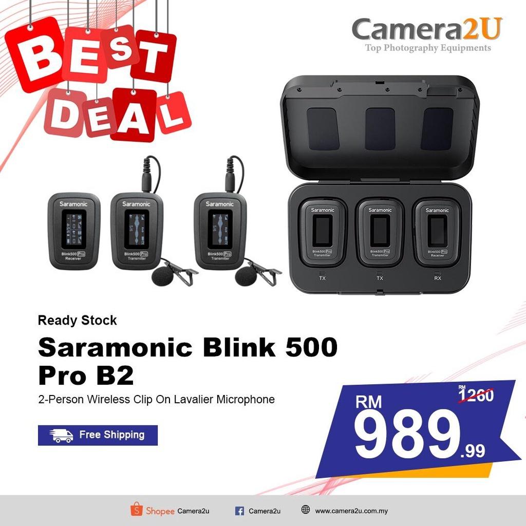 READY STOCK Saramonic Blink 500 Pro B2 2-Person Wireless Clip on Lavalier Microphone