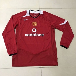 low priced 8a4ff b457f Retro Manchester United red Jersey long sleeve 2005 | Shopee ...