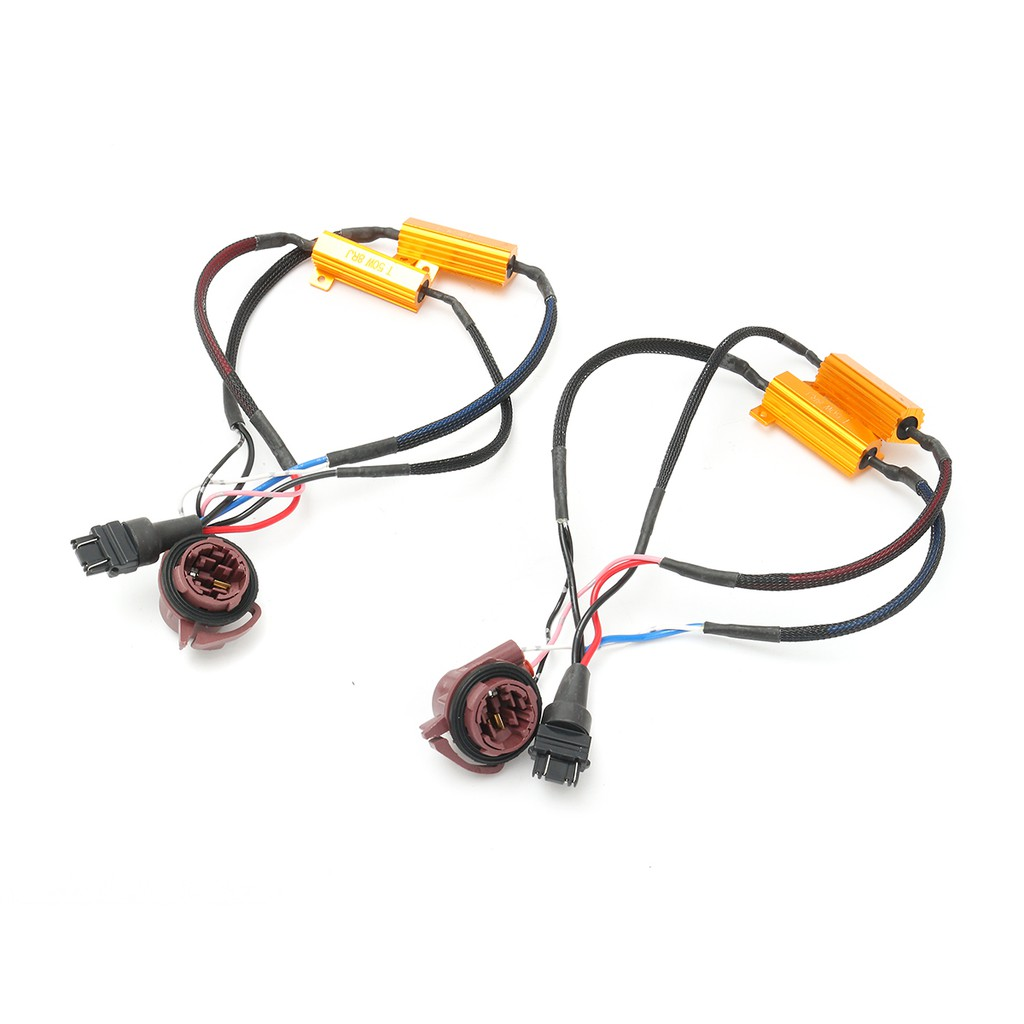 2x 50w 3157 Load Resistor Adapter Anti Hyper Flashing Error E39 Fsu Wiring Diagram Canceller Decoder Shopee Malaysia