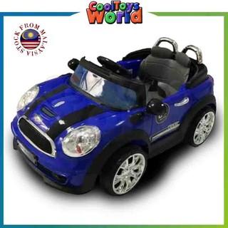 Kids Ride On Car Electric Mini Cooper Style Shopee Malaysia