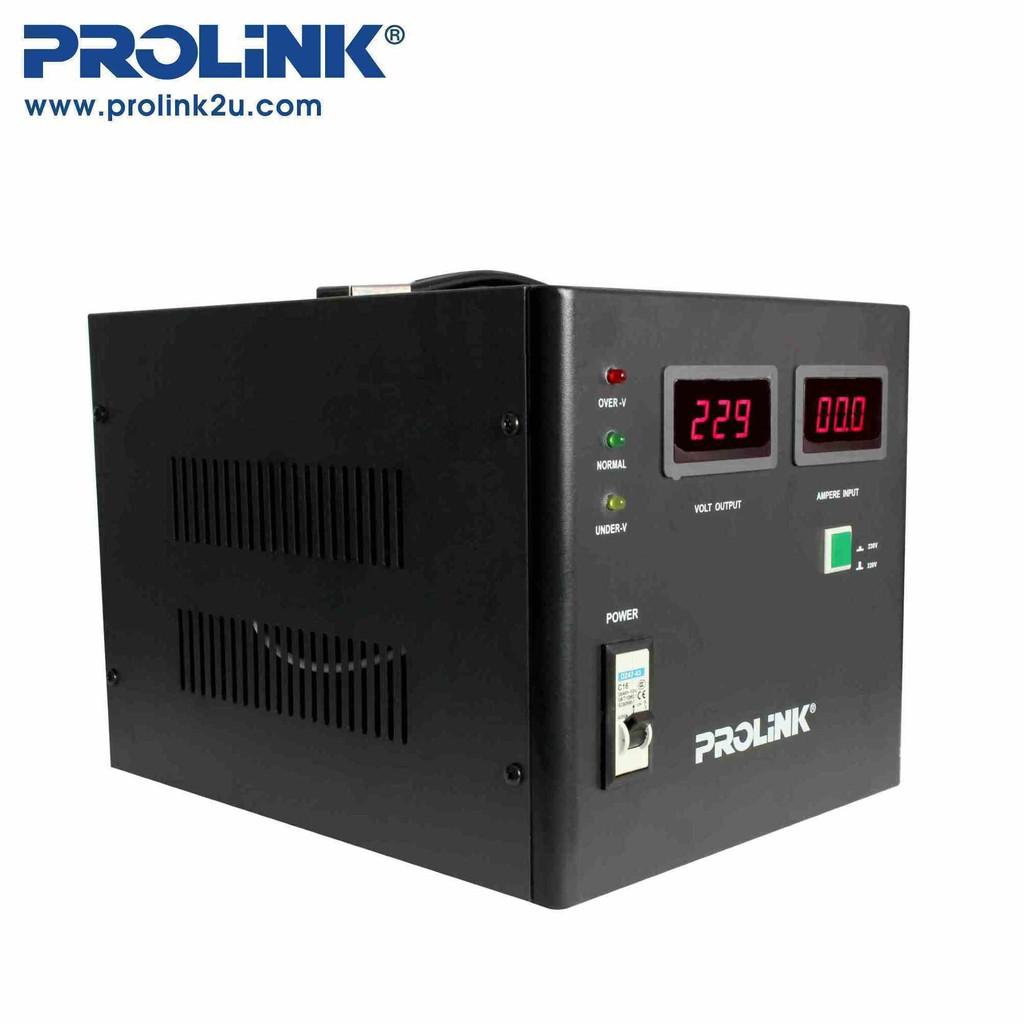 PROLiNK 2KVA/1600W Servo Motor Control Industrial Grade Stabilizer AVR Auto Voltage Stabilizer PVS2001CD