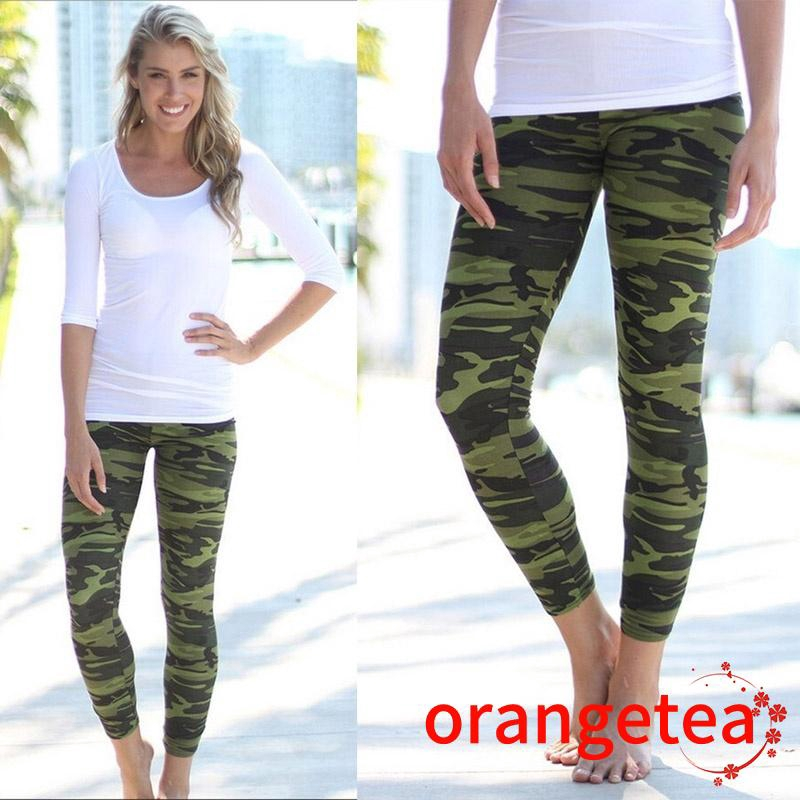 Ladies Leggings Women  Army Print Stretch Military Print Leggings New Long