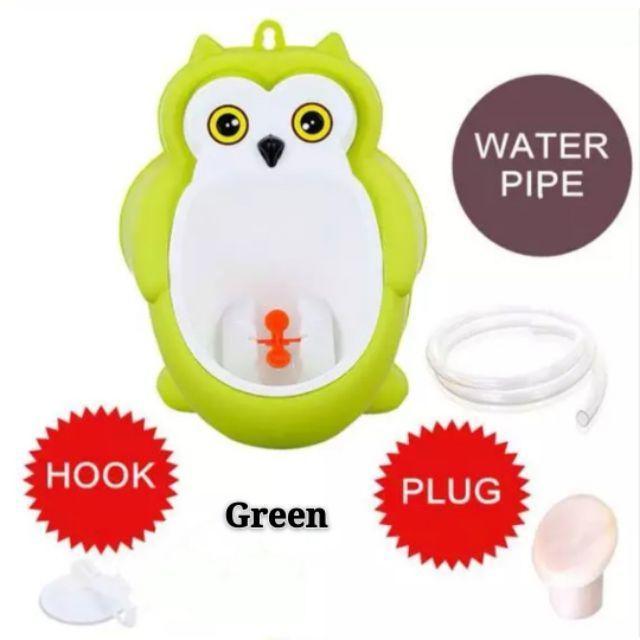 [ READY STOCK ]  Cute Cartoon Owl Wall Mounted Urinal Toilet Portable Training Boy Potty Urine Jualan Murah Kid Baby