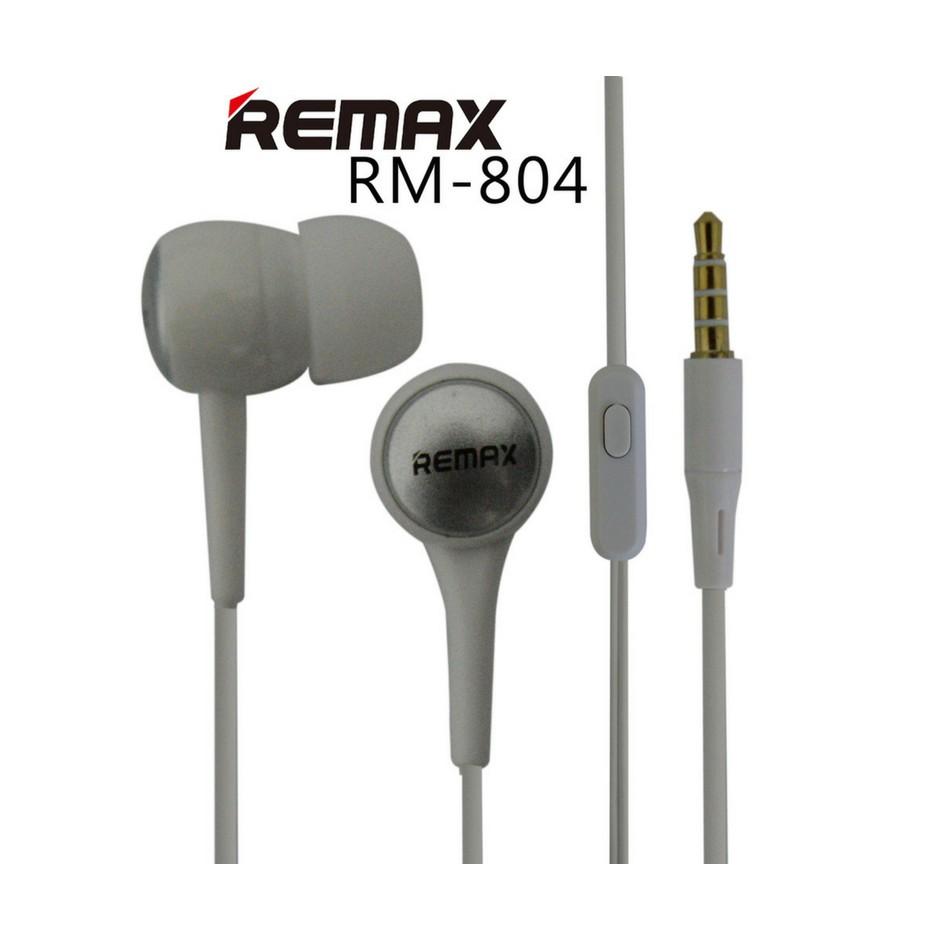 Remax Rm 80 Stereo Earphone Handsfree Headset With Mic Shopee Malaysia 501 Microphone