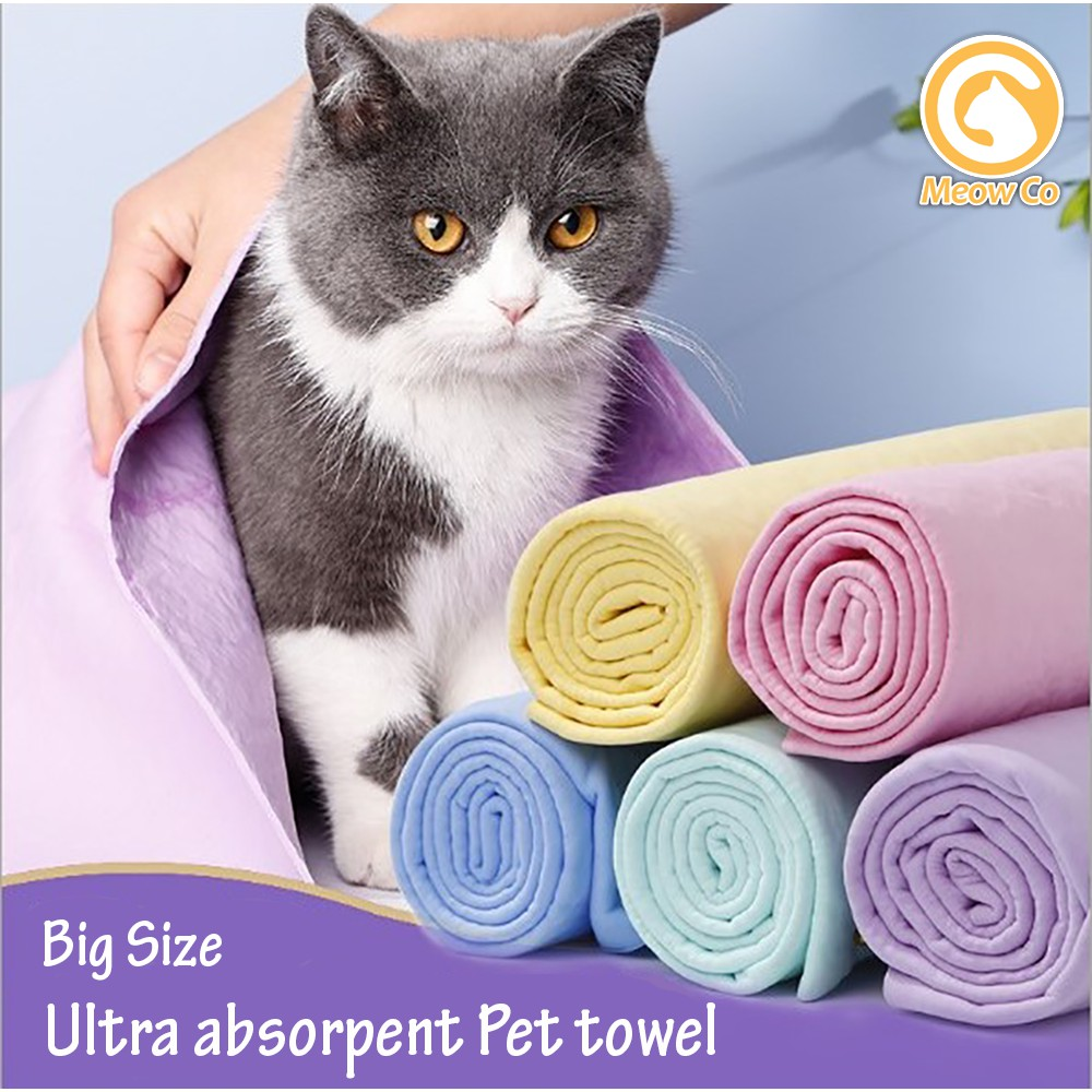 Pet Towel Ultra Absorpent PVA Grade / Tuala Haiwan Peliharaan Kucing