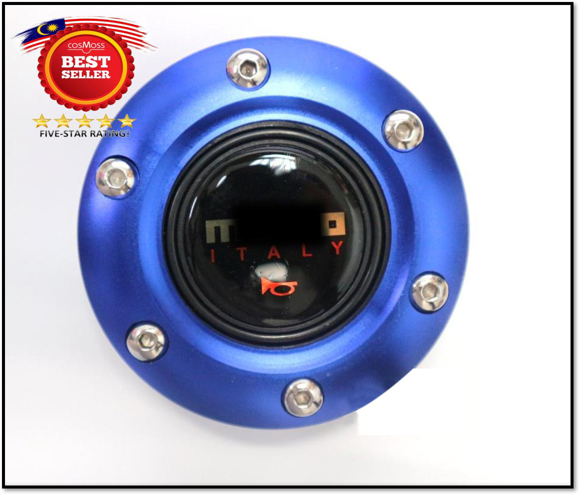 Steering Wheel Hubcap Car Horn Button (RED BLUE BLACK CARBON)