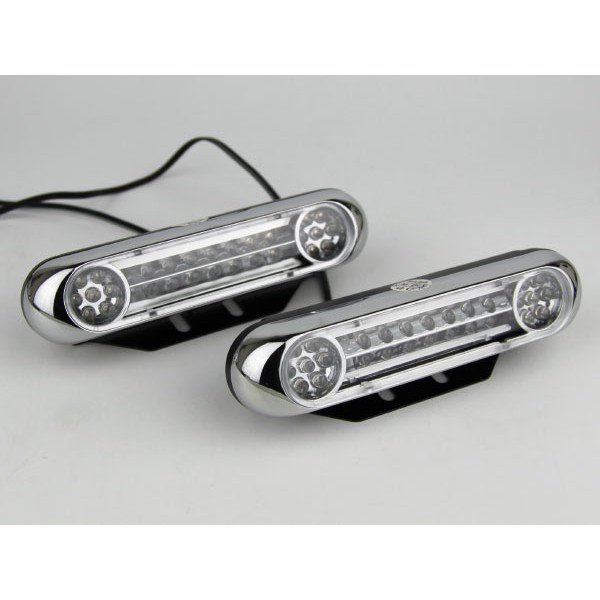 [FREE Gift] YCL 12V/24V 28 LED SUPER BRIGHT DRL WITH AUTO ON VIBRATION SENSOR