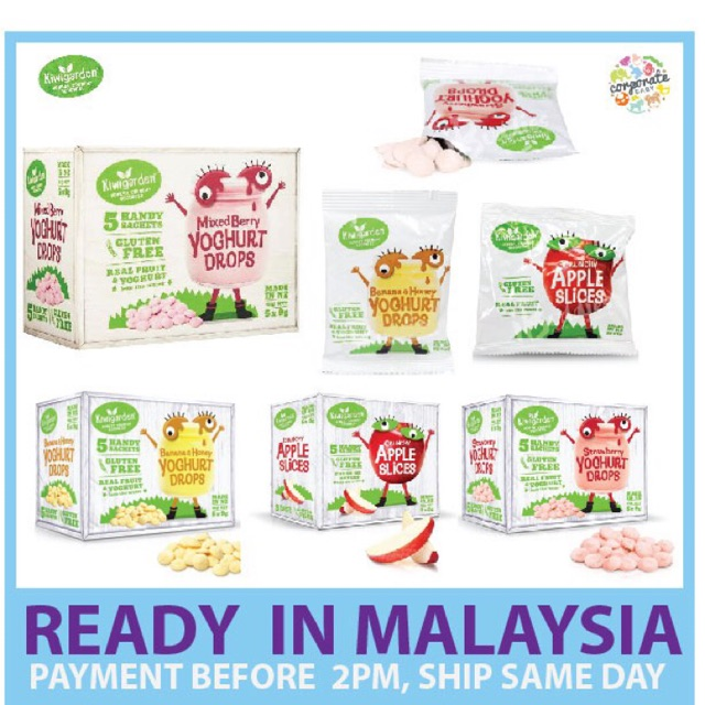Baby Healthy Snack Kiwigarden Yoghurt Drops 1box X 5pack