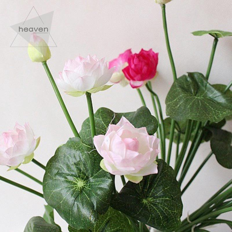 1pc Artificial Fake Lotus Bud Silk Flower Banquet Wedding Home Floral Decoration