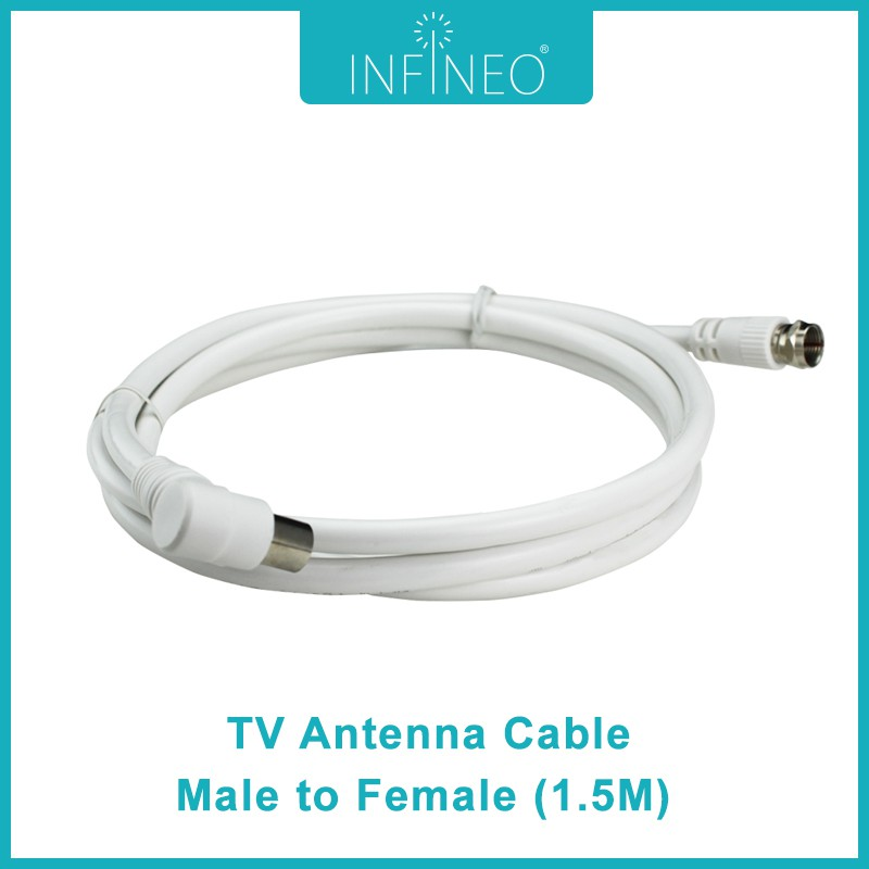 Infineo TV Antenna Cable Male to Female (1.5m)