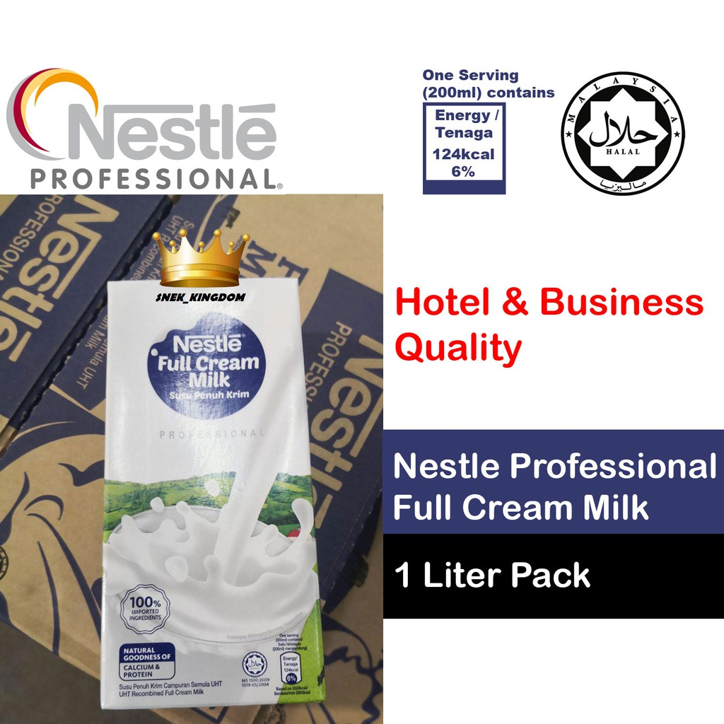 NESTLE Professional Pack Full Cream Milk - 1L Susu Penuh Krim