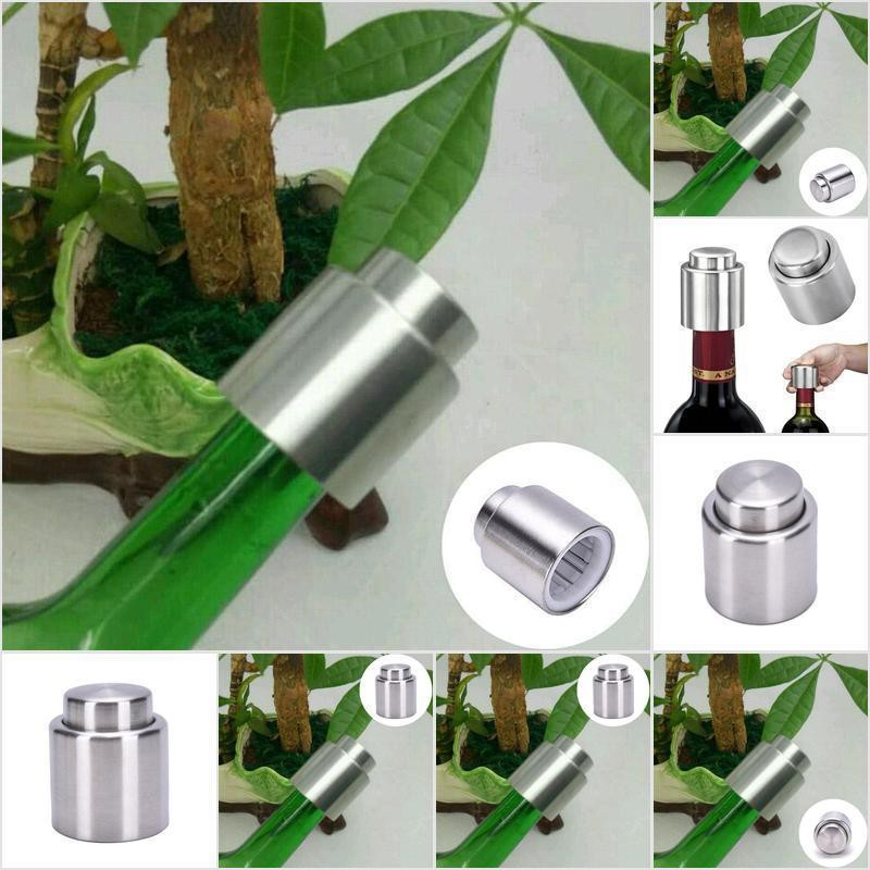 1XBottle Stopper Sealed Red Wine Plug Stainless Steel Reusable Cap Kitchen Tool