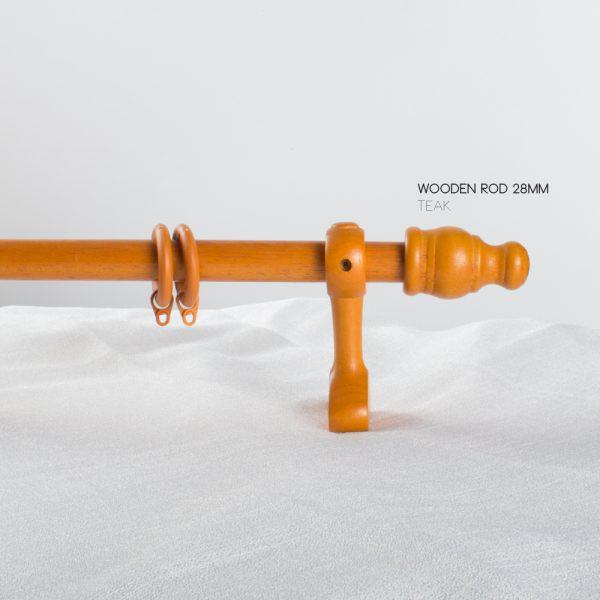 felton wooden curtain rod 28mm 10 ft teak