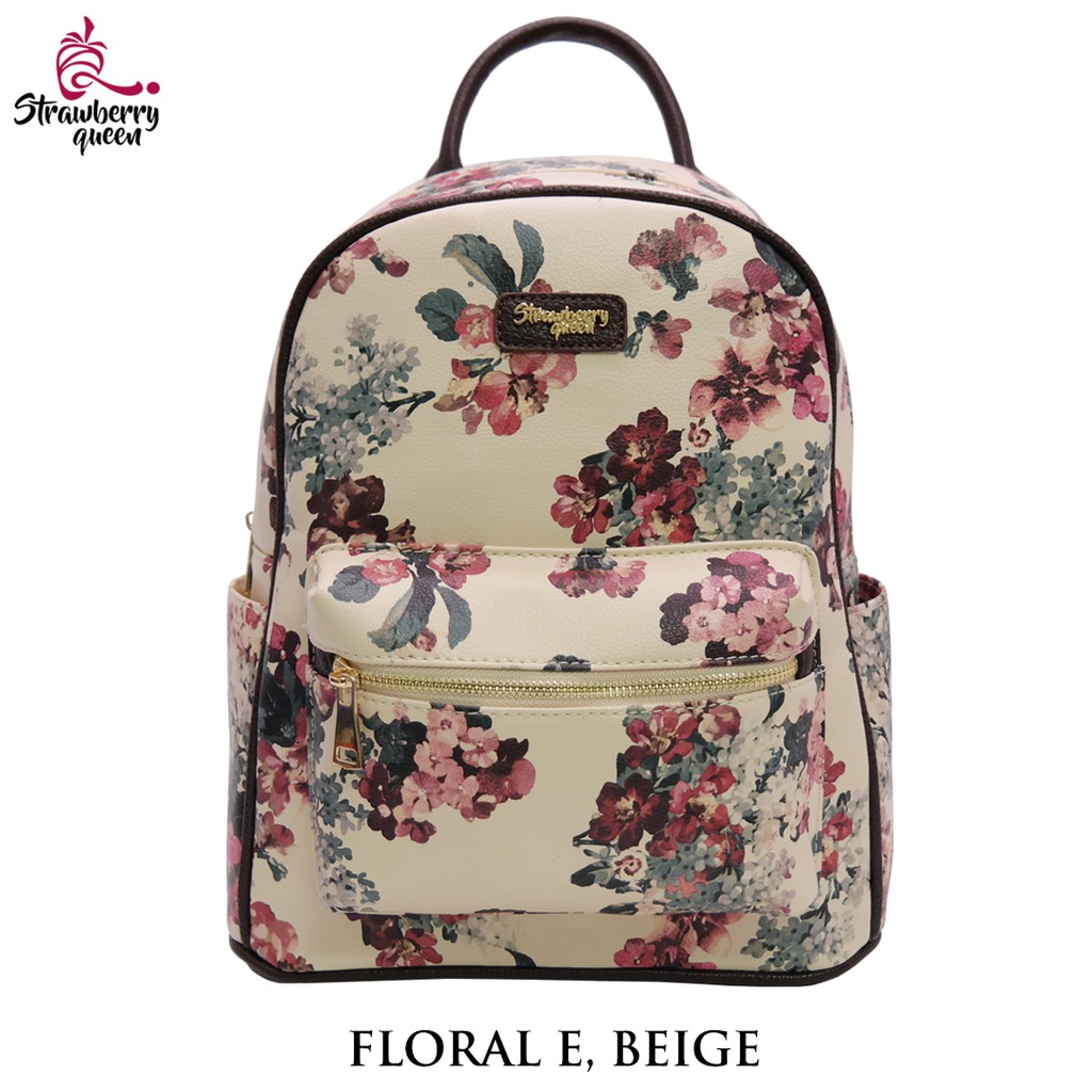 Strawberry Queen Floral Backpack - BOOMERANG TWO