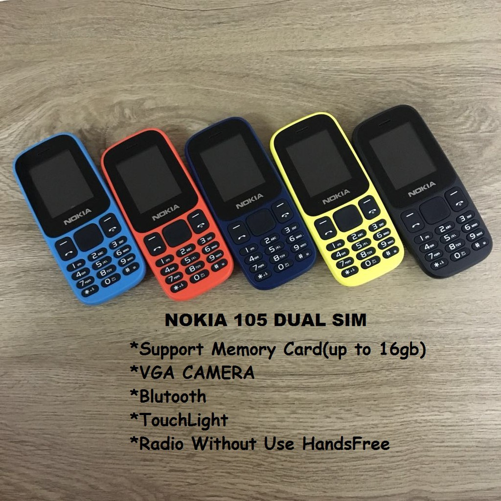 Nokia Sim Mobile Phones Online Shopping Sales And Promotions 105 Dual Handphone Black Gadgets Aug 2018 Shopee Malaysia