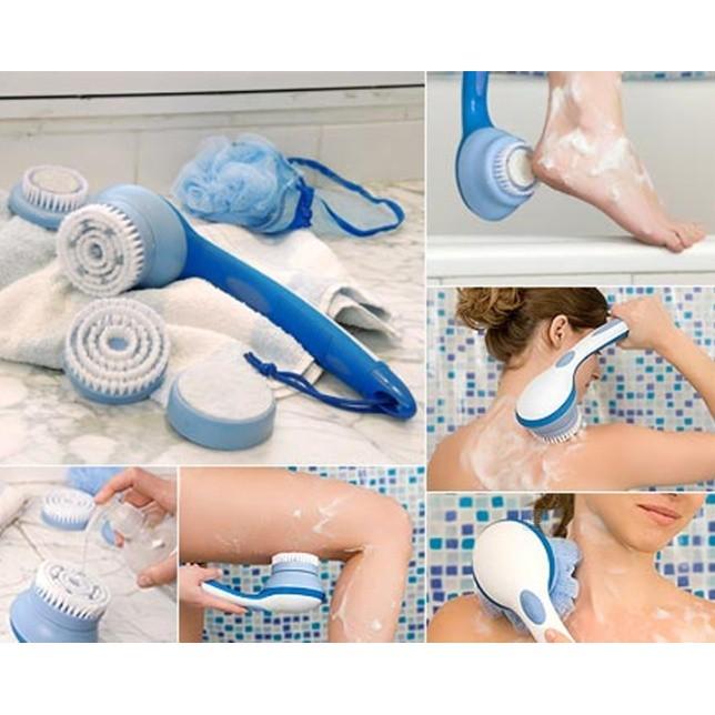 READY STOCK SHP] SET BERUS PENCUCI MUKA & BADAN / Spin Spa Body Brush & Facial Brush Combo Cleansing Kit