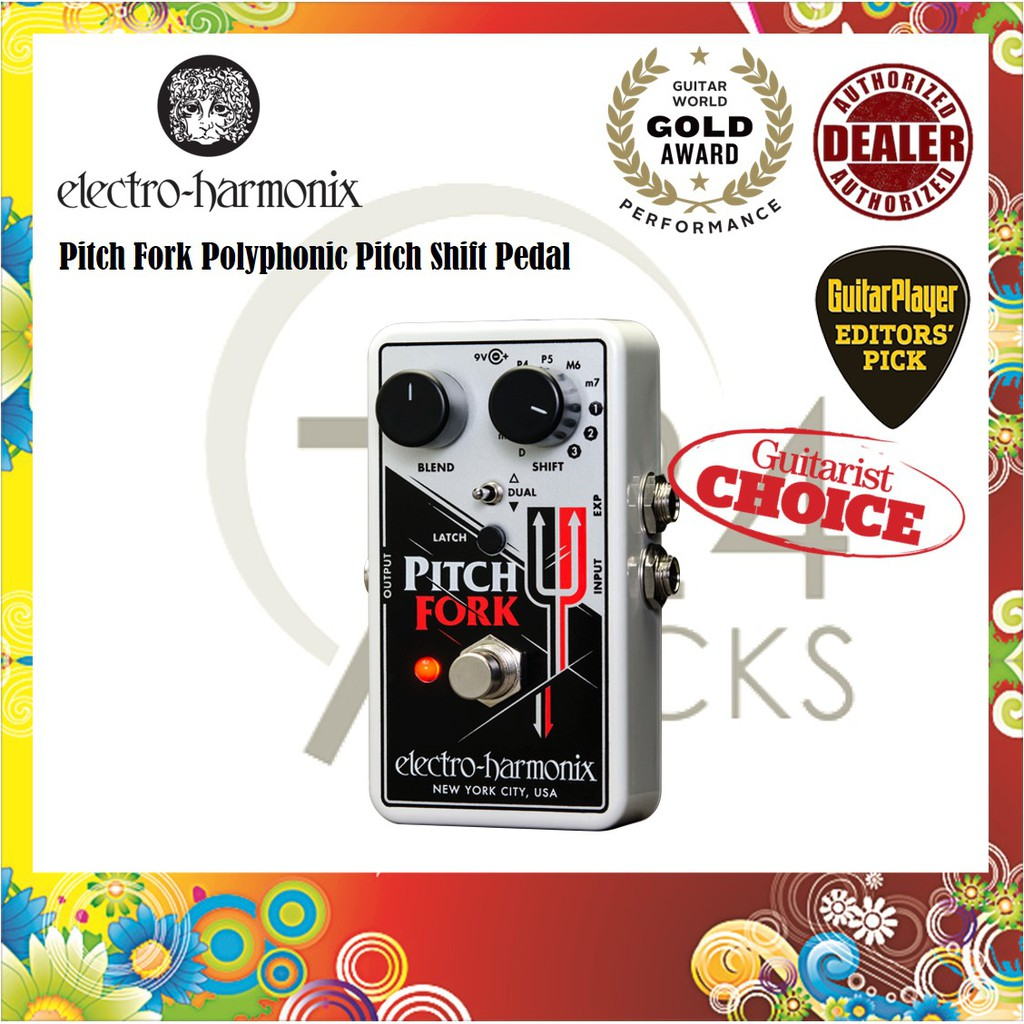 Electro-Harmonix Pitch Fork Polyphonic Pitch Shifter Pedal / Shift Pedal (  EHX Pitch Fork )