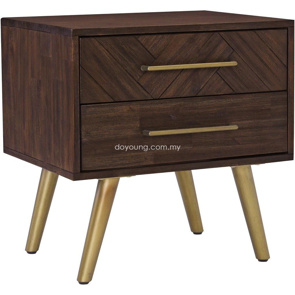 Doyoung Sivan 60cm Acacia Wood Nightstand Free Shipping To West Malaysia Shopee Malaysia