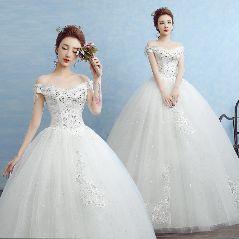 Wedding Gown Malaysia: Off Shoulder Wedding Gown
