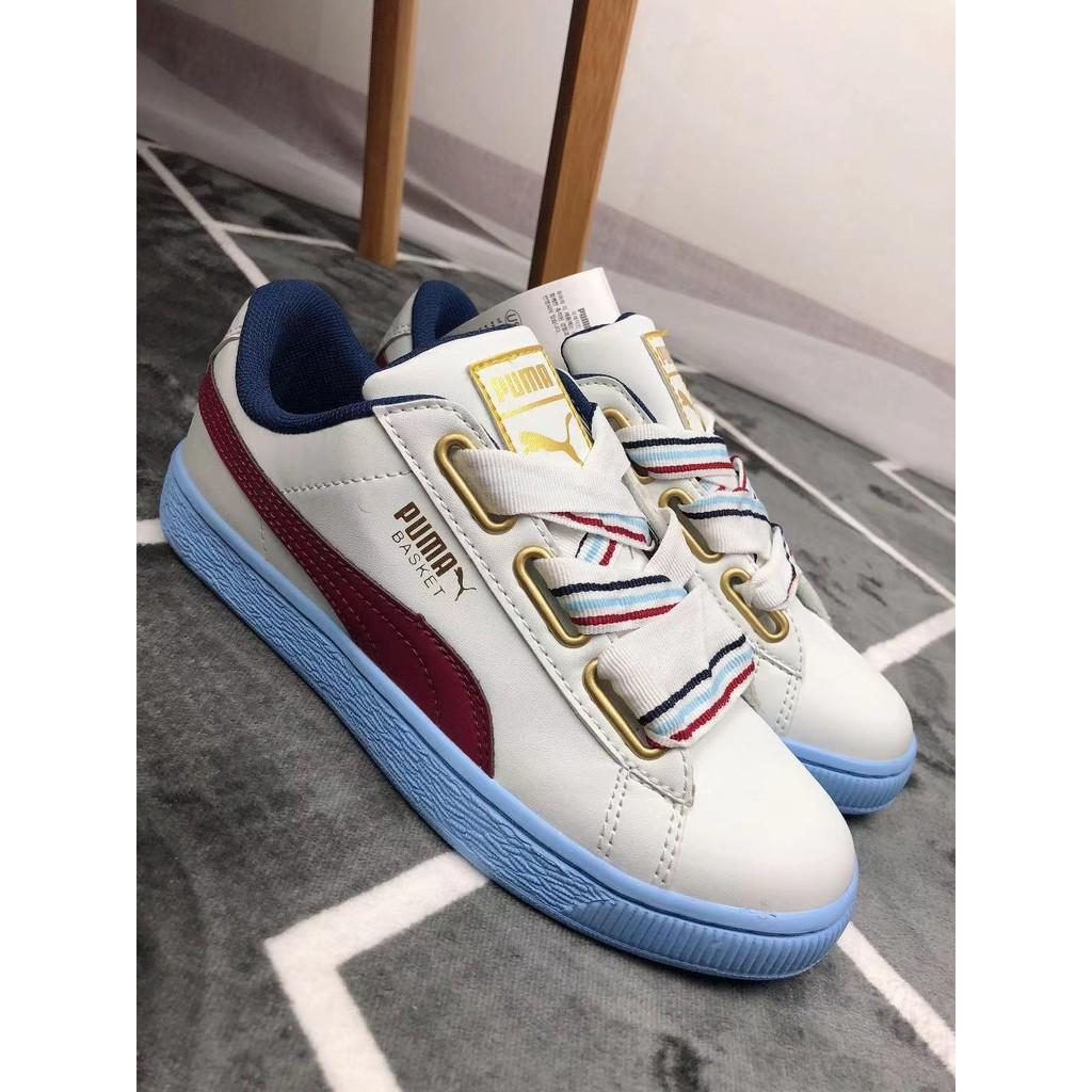 the best attitude 3d19f c7cd6 12.12sale women spoirt shoes original white pum shoe Basket Heart New School