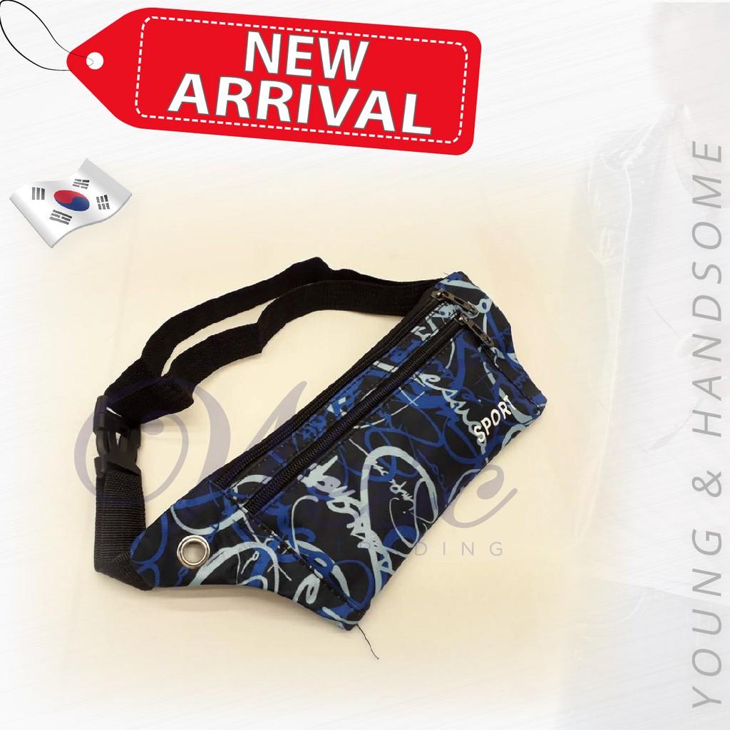 Korean Sport Fashion Waist/Chest Pouch (Blue)