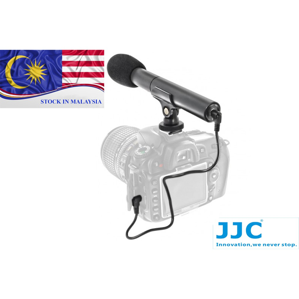 JJC SGM-185 DSLR/Video Microphone For Canon And Nikon Camera Camcorder (Ready Stock In Malaysia)