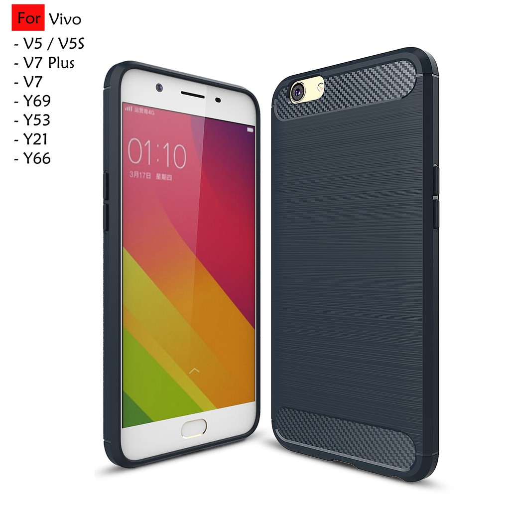 Vivo Y65 Y66 V5S Y53 V5 Lite TPU Soft Hairline Case Cover Casing Carbon Fiber | Shopee Malaysia
