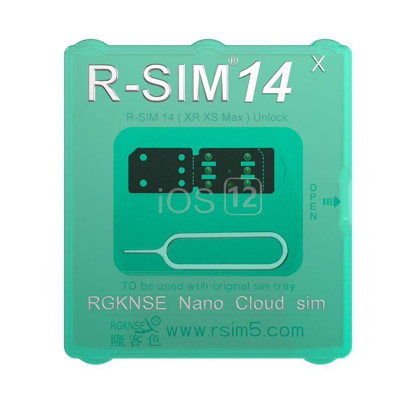 RSIM14 12 R-SIM Nano Unlock Card for iPhone XS MAX/XR/XS/8/7/6 4G iOS 12 3 1