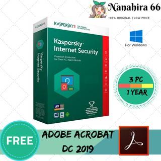 KASPERSKY PREMIUM INTERNET SECURITY 2019 FOR 3 PC 1 YEAR ORIGINAL GUARANTEED
