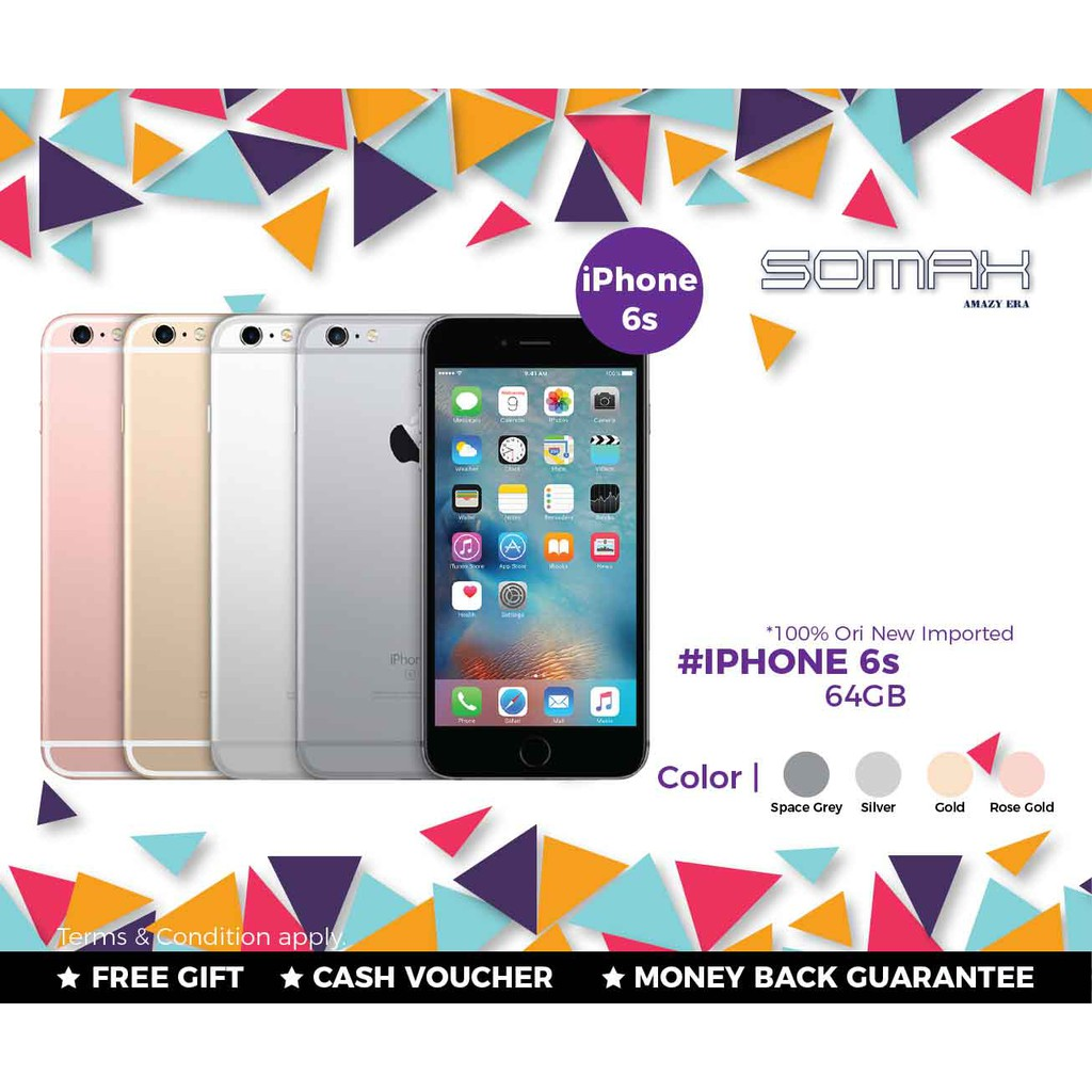 APPLE IPhone 6S * 64GB New Imported Full Box Set 1 Year Warranty !!