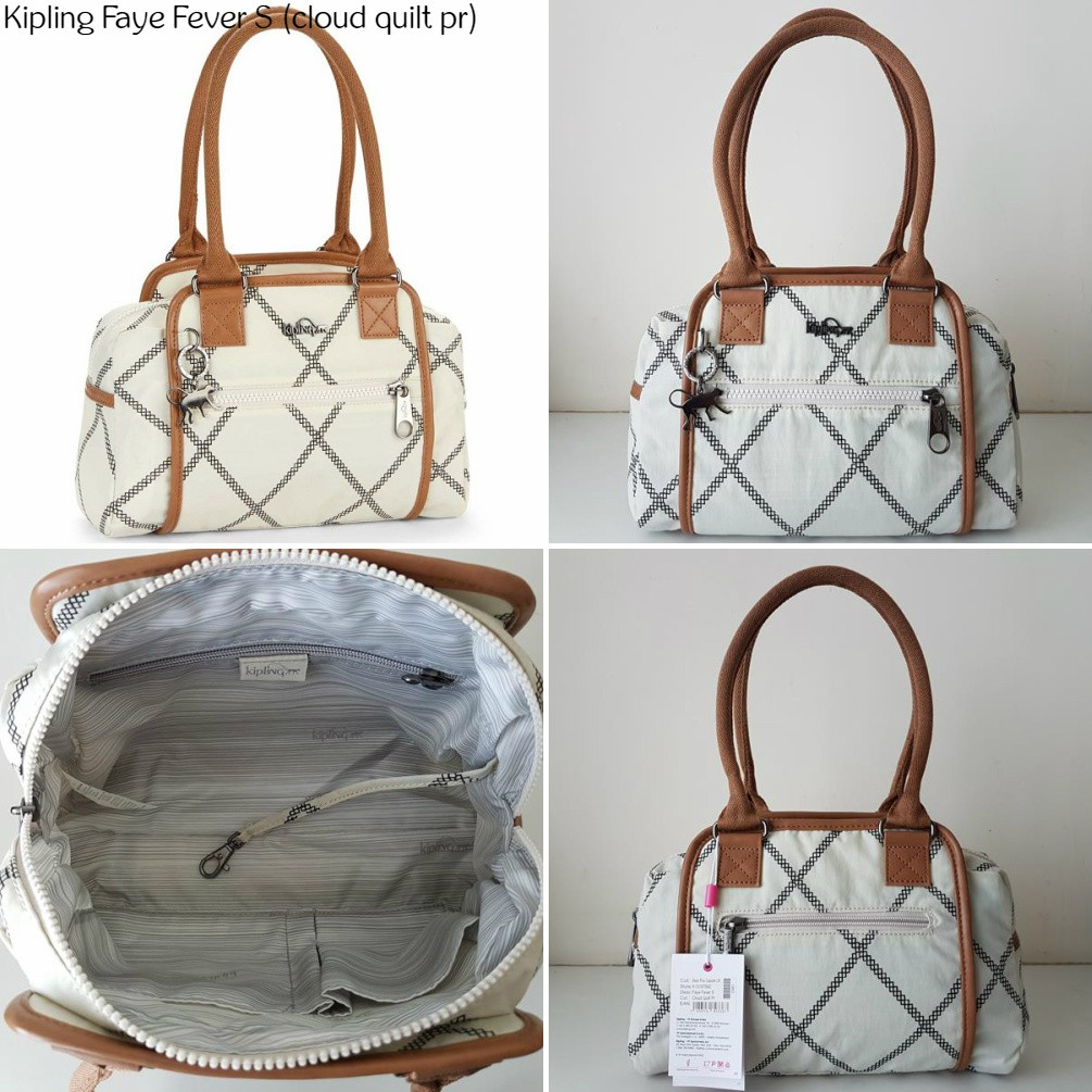Kipling Bag Satchel Nwt Tote Faye Fever Handbag Authentic S Shoulder thCsQrdx