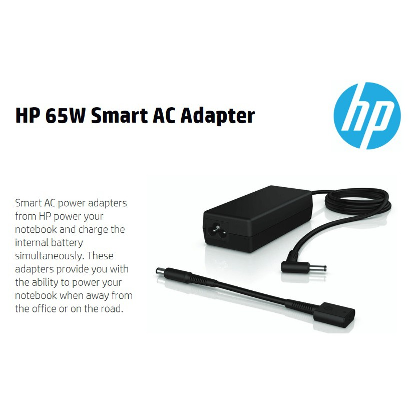 HP 65W Smart AC Adapter P N H6Y89AA