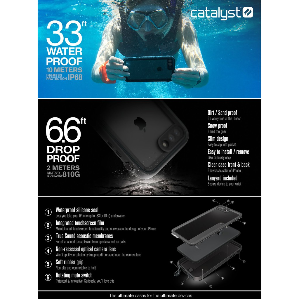 outlet store 7798e d9acc [ IPHONE 7,8 PLUS ] CATALYST WATERPROOF CASE [ORIGINAL] [READY STOCK]