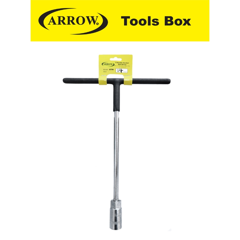 ARROW  (T) HANDLE SOCKET NUT DRIVER EASY USE SAFETY GOOD QUALITY