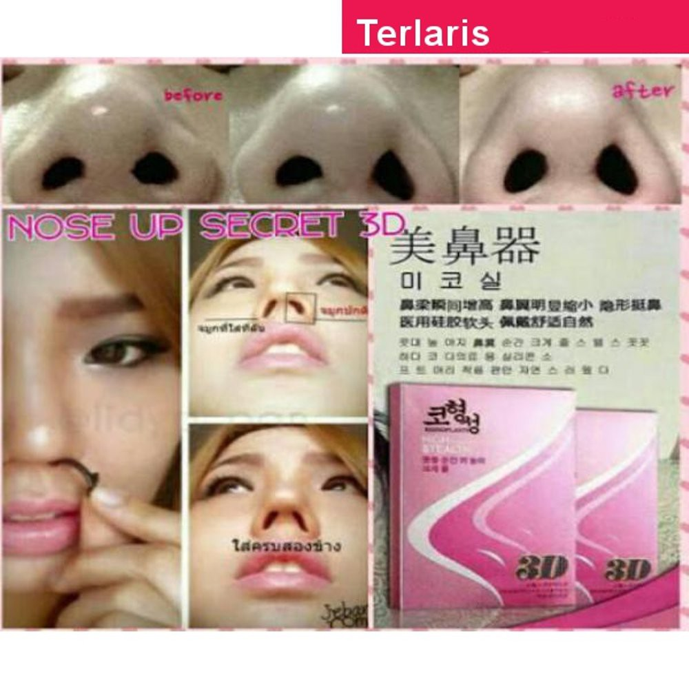 Korean 3D Nose Up Nasal Artifact Beauty Invisible Brace pemancung hidung | Shopee Malaysia