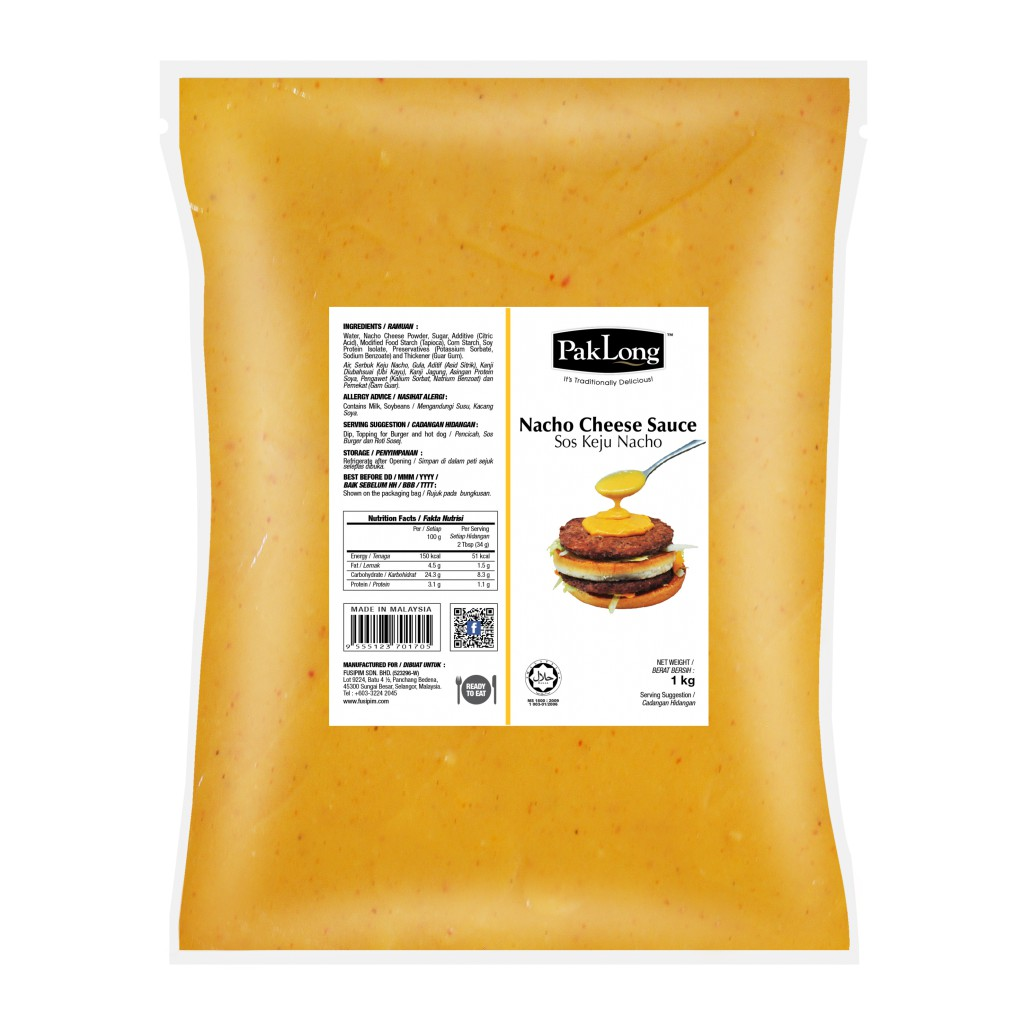 PAK LONG NACHO CHEESE SAUCE 1KG