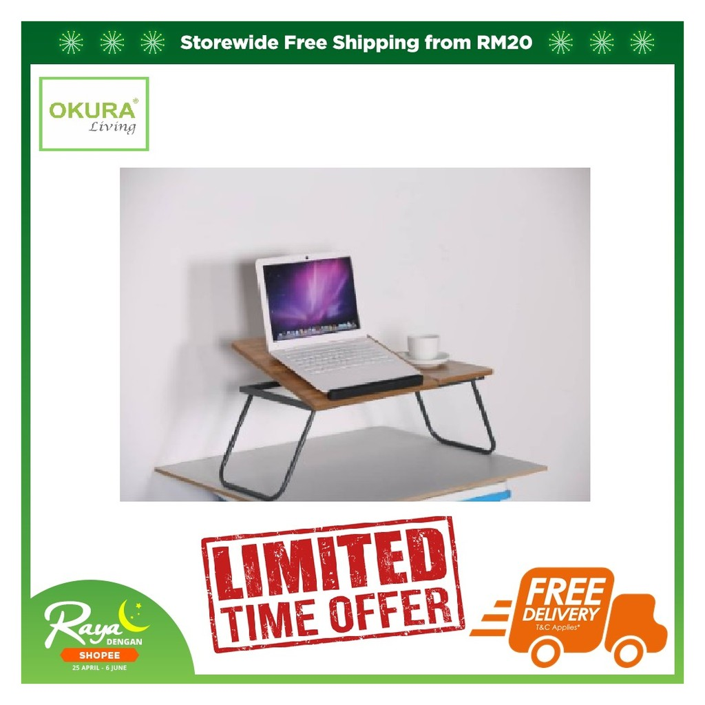 Picture of: C Shaped Adjustable Desk Laptop Desk Table With 4 Wheels Flexible Side Table Snack Table For Bed Pink 60x40cm Lapdesks Accessories