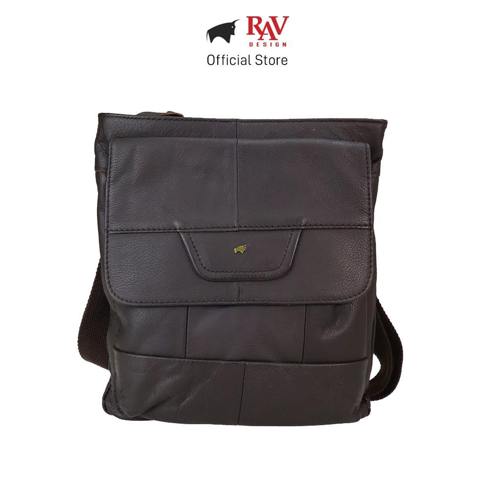 RAV DESIGN Men Genuine Cow Leather Sling Bag Brown |YRC053G2