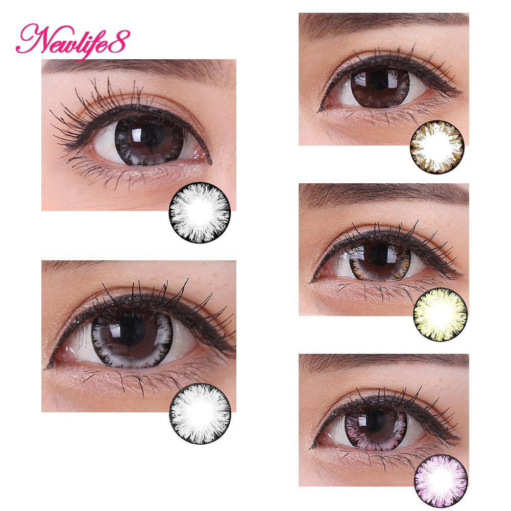 Unisex Big Eye Natural Plain Glass Contact Lenses Eye Beauty Makeup Eyewear