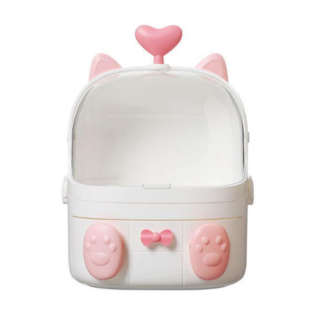 [ READY STOCK ]  Cute Kawaii Love Handle Makeup Brush Lipstick Cosmetic Waterproof Container Storage Jualan Murah Rack