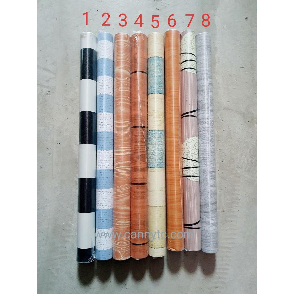 Wallpaper PVC Bajet Bercorak Strips (Lebar 45cm x Panjang 200 cm)