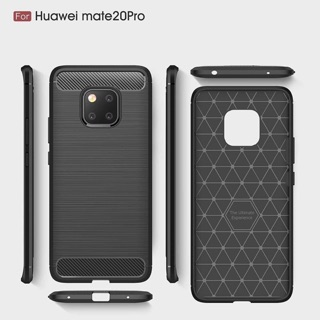 Huawei Mate 20/ Mate 20 Pro Case Silicone Rugged Armor Soft Back Cover Case