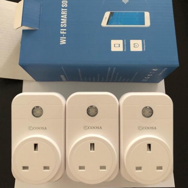 3pcs WiFi socket & smart socket smart plug with Google home & Alexa  fastdelivery