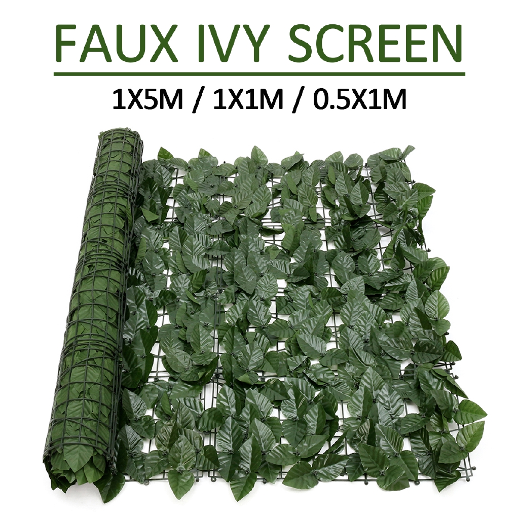 Artificial Hedge Roll Screening Green Leaf Privacy Screen Garden Fence 1*3m NEW