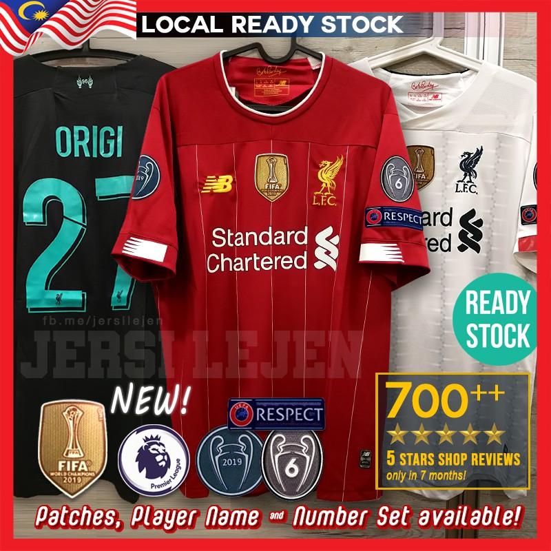 READY STOCK! Liverpool 2019/20 Home Away Third Kit ...