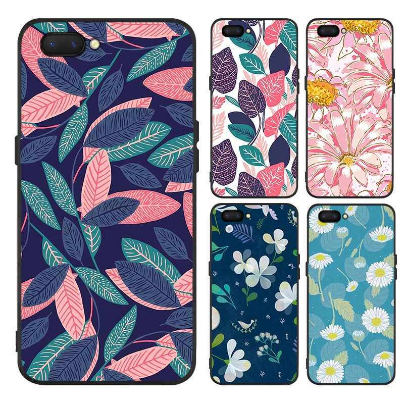 OPPO A5S A3s A7 F1S F3 A77 F5 youth F7 7Youth F9 F9Pro F11 Casing Flower  Matte Case Soft Cover【YIMI】